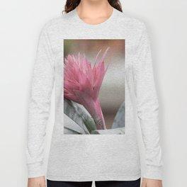 pink aechmea  flower in bloom  in the vase Long Sleeve T-shirt