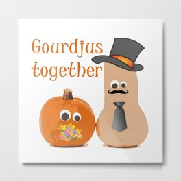 Gourdjus Together Cute Just Married Wedding Vector Metal Print