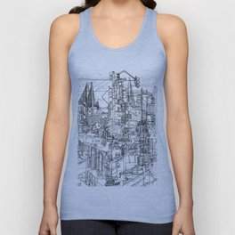 San Francisco! (B&W) Unisex Tank Top