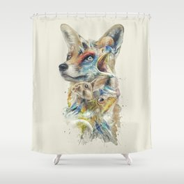 Heroes of Lylat Starfox Inspired Classy Geek Painting Shower Curtain