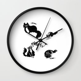 Clover Sounds | Lo-Fi Cat Frustration Wall Clock