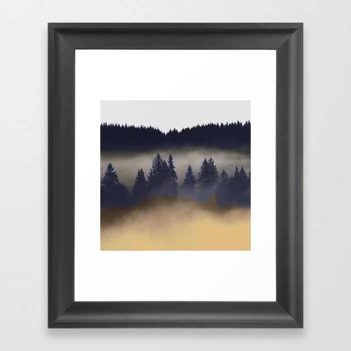 Misty Forest Gerahmter Kunstdruck