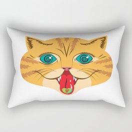 Kiss Me Ginger Cat Rectangular Pillow