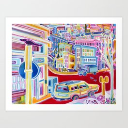 Rainbow City Art Print