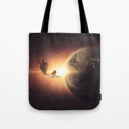 Floating Above Earth Tote Bag