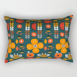 Modern decor with funny bees Rectangular Pillow