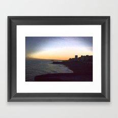 Seafront sunset Framed Art Print