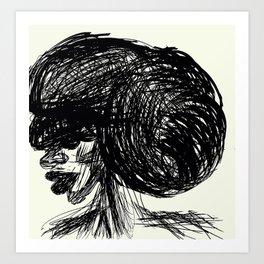 Updo Art Print