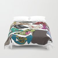 shoes Duvet Covers featuring Shoes by xDiNKix