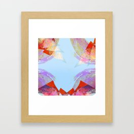 Triangles in red Framed Art Print