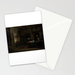 laboratorio alquimico con mago Stationery Cards