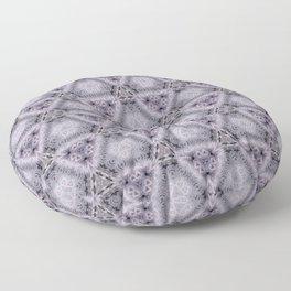 Pale Purple Pyramids Floor Pillow