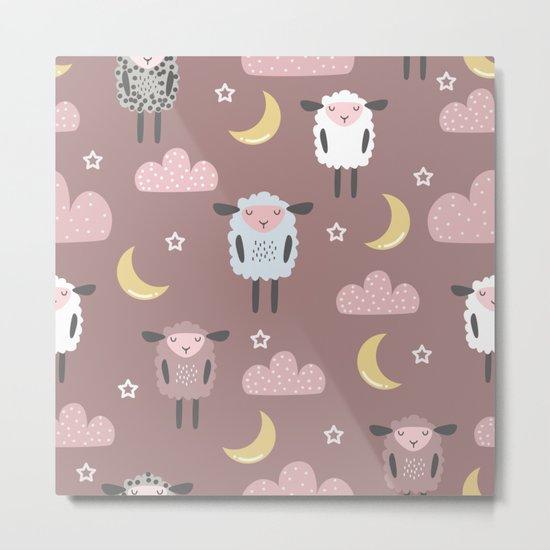 Sweet sleeping sheep pattern pastel light pink by arch4design