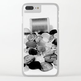 Buttons Clear iPhone Case