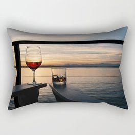 Wine and Whiskey Eve Rectangular Pillow