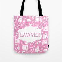 lawyer Tote Bags featuring Lawyer by Be Raza
