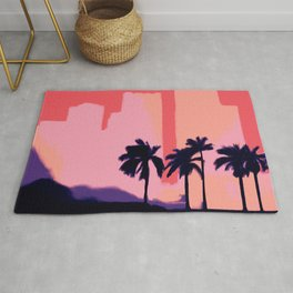 Sunset Time in Miami 2020 Rug