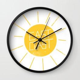 East Coast Sun Wall Clock