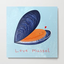 Love Mussel Metal Print