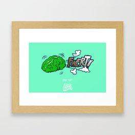 Punny Doodle-Brain Fart Framed Art Print