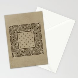 Brown Denim Bandana Stationery Cards