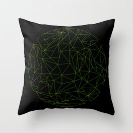 geometric circle Throw Pillow
