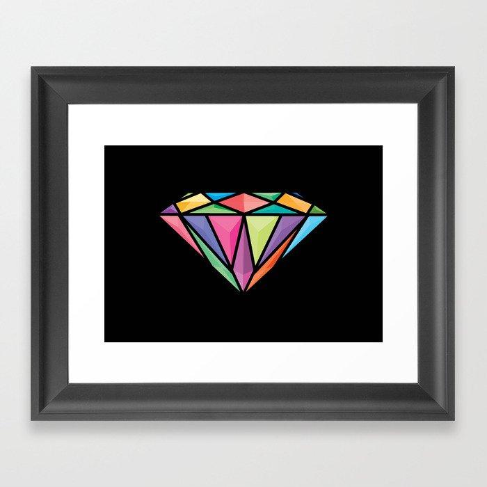 Diemond Framed Art Print