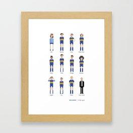 Boca Juniors - All-time squad Framed Art Print