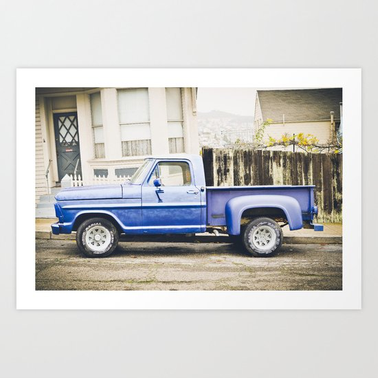 Vintage Cars of San Fran 2 Art Print