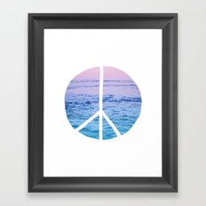 Waves & Peace Framed Art Print