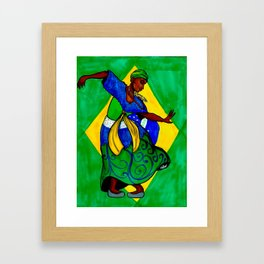 Pátria Amada Brasil! Framed Art Print