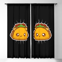 Cute Kawaii Style Taco Gift Blackout Curtain