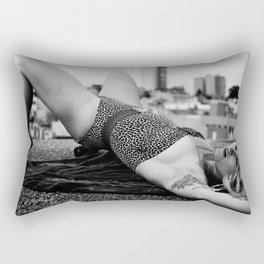 Leopard Lady Rectangular Pillow