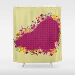 Grito de Rosas Shower Curtain