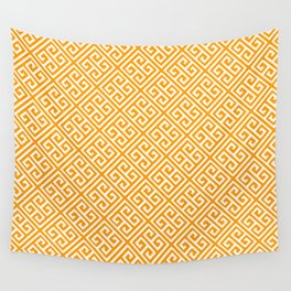 Gold Greek Key Pattern Wall Tapestry