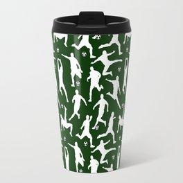 Soccer Players // Dark Green Travel Mug