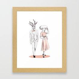 Bestial fashion couple Framed Art Print