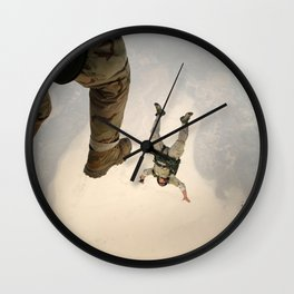 Parachuting sky 3 Wall Clock