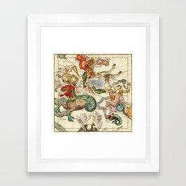 Cetus, Aquarius, Andromeda, Pegasus, Phoenix, Aries, Triangulum And Other Constellations Framed Art Print