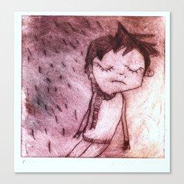 Miguel,  grabado Canvas Print