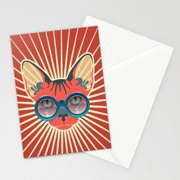 Retro Hipcat & His Sunglasses - Mojo Sunburst Stationery Cards