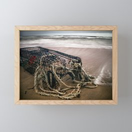 Lobster Cage Framed Mini Art Print