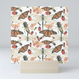 Scattered Bugs Mini Art Print