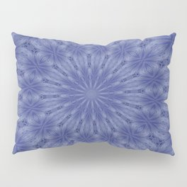 Blue and Mauve Abstract Kaleidoscope Pillow Sham