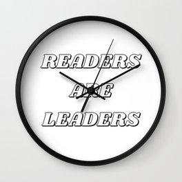 READERS ARE LEADERS Wall Clock