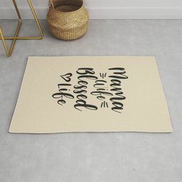 Womens Mama Wife Blessed Life Mom Gifts Mother's Day Rug