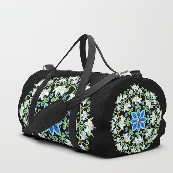 Folkloric Flower Crown Duffle Bag