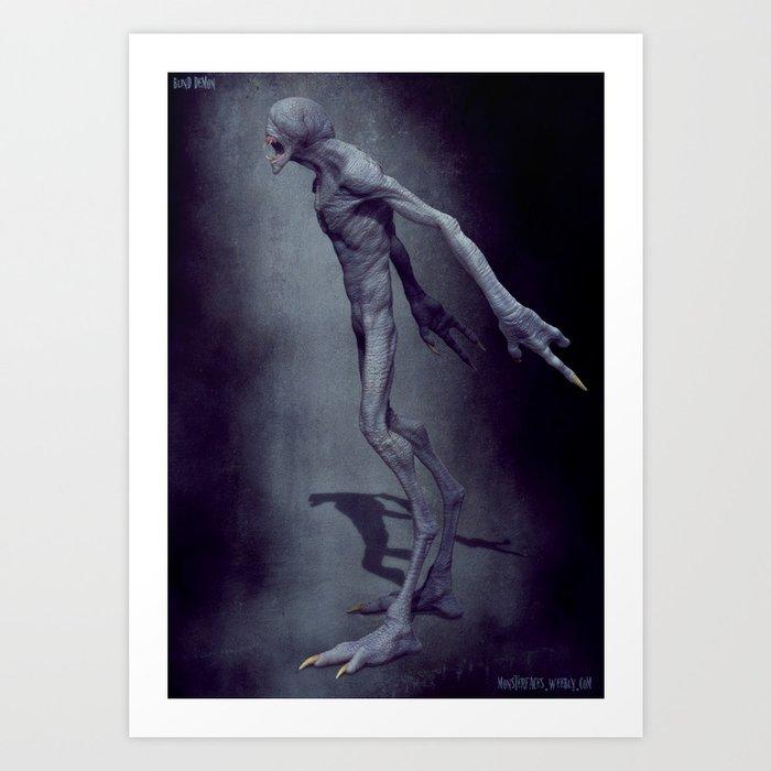 Blind Demon Art Print
