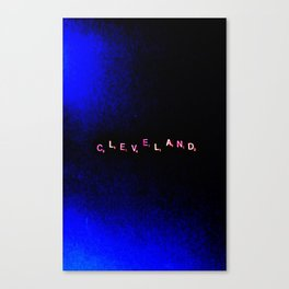 """"""" Cleveland"""" in Black & Blue Canvas Print"""
