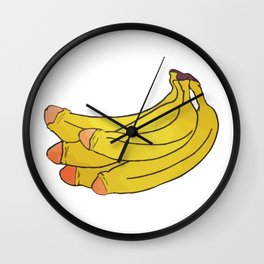 banana basquiat Wall Clock